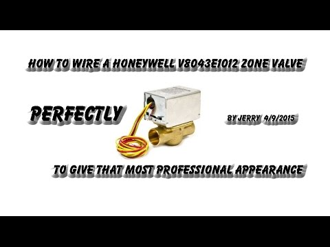 how to wire a honeywell v8043e zone valve youtube rh youtube com honeywell v8043 wiring diagram Honeywell Zone Valve Install
