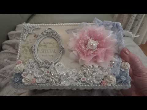 shabby chic altered box youtube. Black Bedroom Furniture Sets. Home Design Ideas