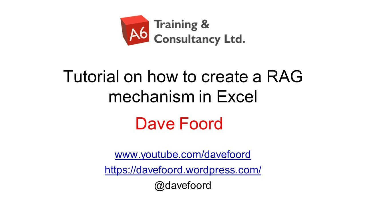 Creating A Rag System In Excel Youtube