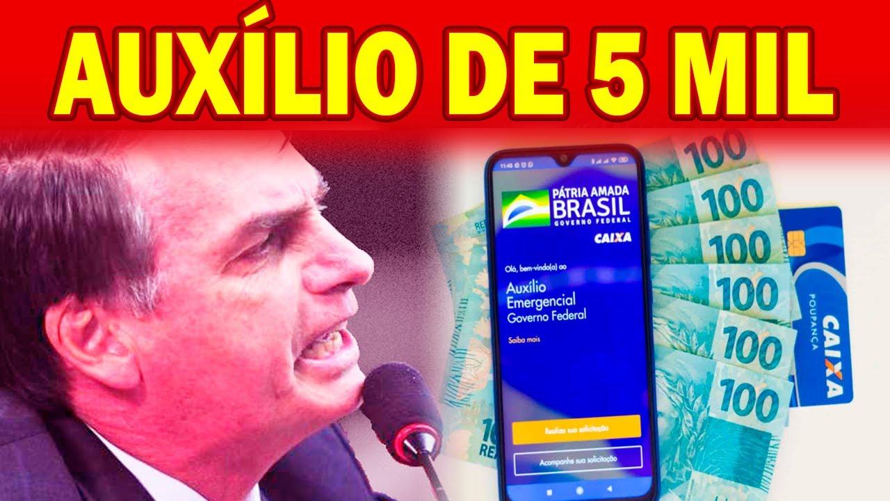 🔴 Bolsonaro diz que PAGOU 5 mil reais de Auxílio Emergencial e C4USA REVOL.TA de todos