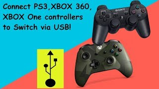 Nintendo Switch tutorial - How to connect & use PS3, Xbox 360, Xbox One controllers via usb