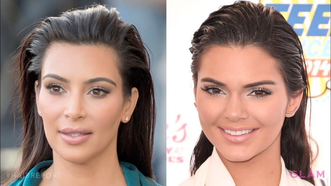 get slicked back hair like kim kardashian | hair report - youtube