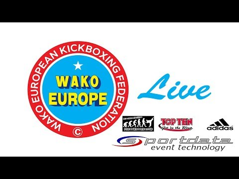 Tatami 1 and 5 WAKO European Championships 2017, Skopje