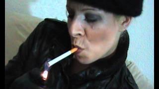 vuclip Lara 34 - Smoking in Leather Skirt
