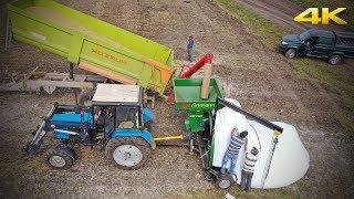 Как сохранить урожай без склада? Зерно в рукавах, при помощи МЗУ-01 ЛИЛИАНИ и трактора МТЗ-82