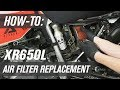 How To Replace The Air Filter On A Honda XR650L