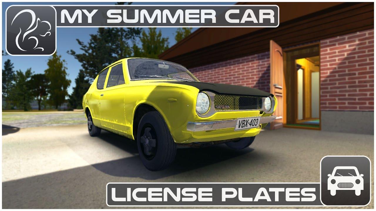 My Summer Car Episode 9 License Plates