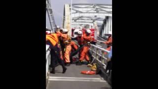 水難事故救出劇 16.08.14 10am 43号線淀川大橋