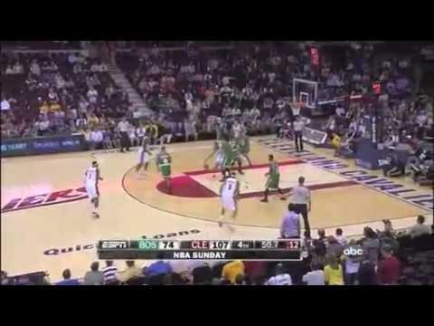 Wally Szczerbiak Monster Chase Down Block on Bill Walker vs. Celtics