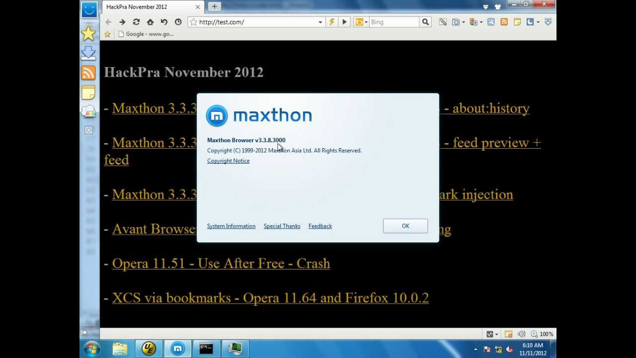 maxthon 2012
