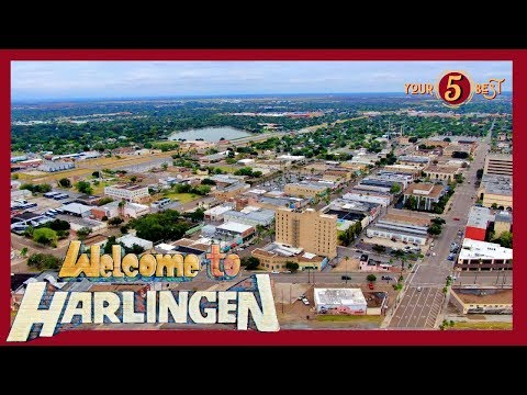HARLINGEN Texas - 4k Drone Tour