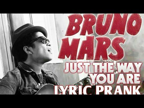 Lyric prank on CRUSH!!!!!(Bruno Mars Just the Way You Are)