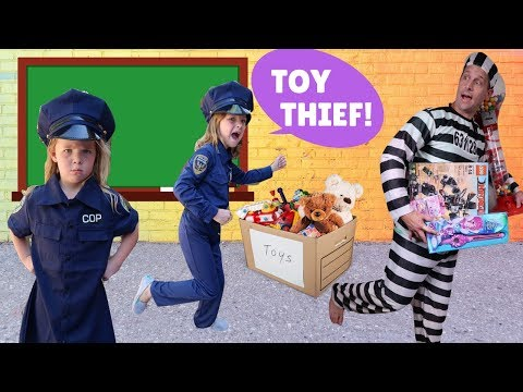 Silly Teacher at Toy School with Addy and Maya thumbnail