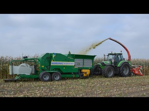 Unieke AGRONIC haksel-perswikkelcombi Trekkerweb Field harvesting, baling & wrapping in one pass