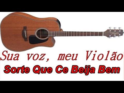 Sua voz meu Violão. Sorte Que Ce Beija Bem - Maiara e Maraisa. Karaoke Violão