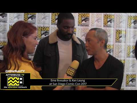 Eme Ikwuakor & Ken Leung Inhumans at San Diego ComicCon 2017