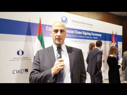 Serbia's largest wind farm Signing Ceremony | Gaetano Massara, CEO of GE South East Europe