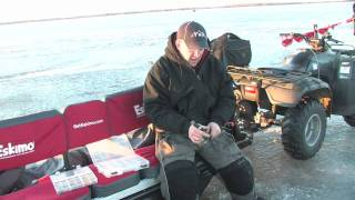 jigging techniques and baits for walleye and whitebass through the ice