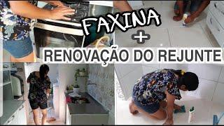 O PISO FICOU NOVO   FAXINA + ORGANIZAÇAO   casa limpa