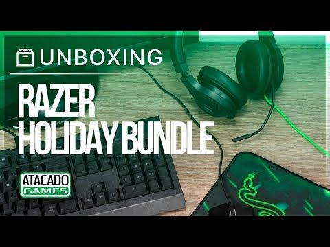 Unboxing Razer Holiday Gaming Bundle na Atacado Games