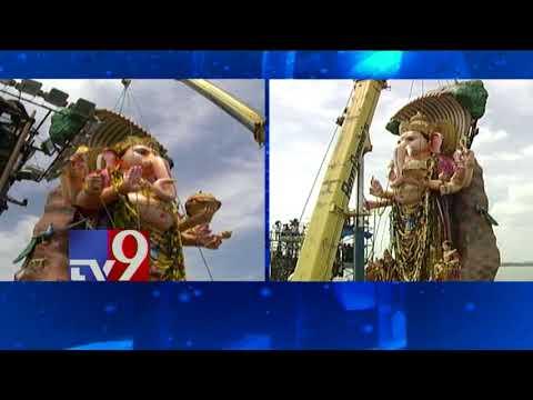 Khairatabad Ganesh immersed in Hussain Sagar - TV9