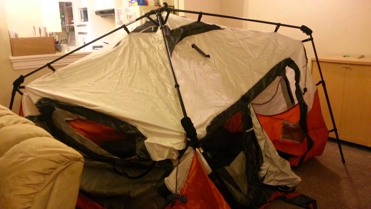 & Coleman Instant Tent-6 Person 1st Attempt to Setup - YouTube