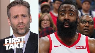 'James, why do you make me do this?' - Max blames Harden for Rockets' loss to Warriors | First Take