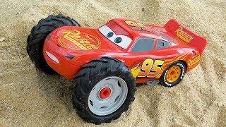 Assembling Lightning Mcqueen - Racing Cars Crash The Tree ,Dump truck,wheel Loader