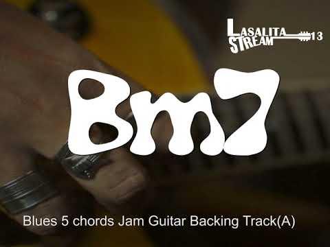 "Blues Jam 5 chords  backing track key of ""A"""