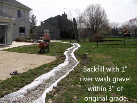 Yard drainage youtube for Drainage solutions for my yard