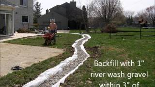 All comments on yard drainage youtube for Backyard flooding solutions