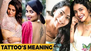 Oh! இதுதான் அர்த்தமா, Heroines Tattoo Secret Meanings   Samantha, Rashmika, Trisha, Shruti, Amala