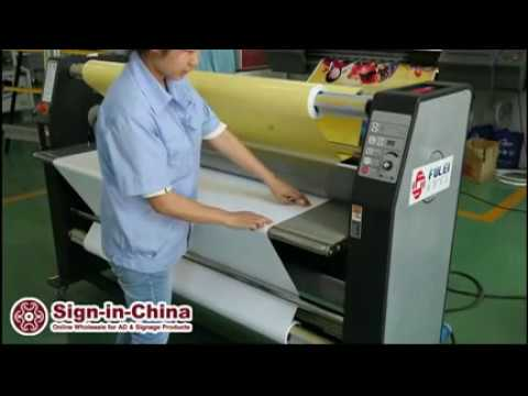 How to Use the 63 Inches Wide Format Hot Laminator