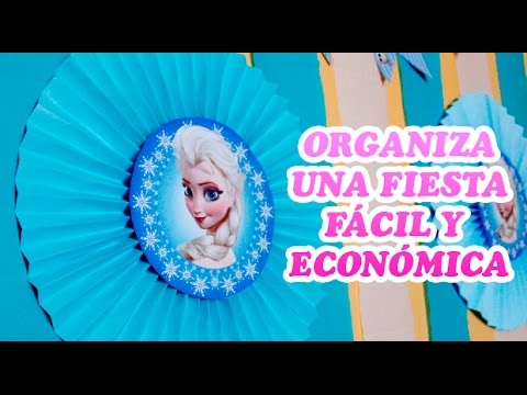 Ideas fáciles y económicas para fiesta de Frozen Disney |  Easy ideas for Frozen Disney party