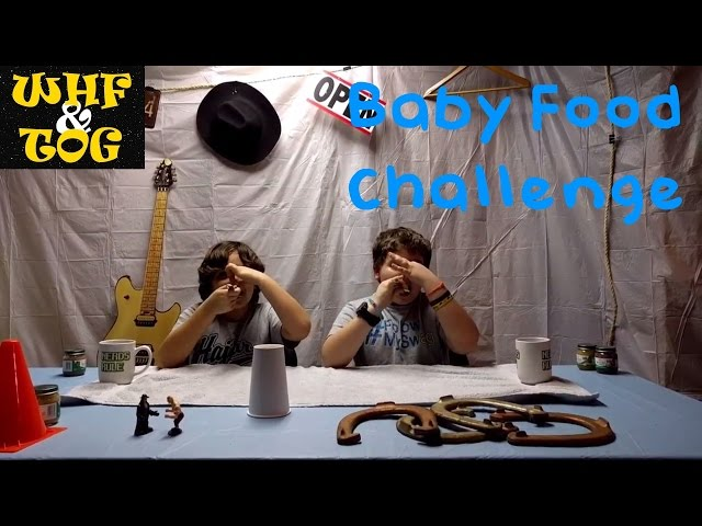 Baby Food Challenge --- Whats His Face and The Other Guy