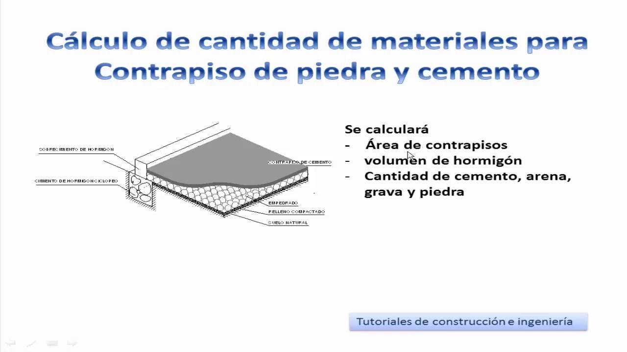 16 c lculo de materiales para construir un contrapiso de - Cuanto cuesta el material para construir una casa ...