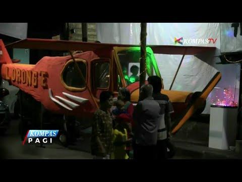 Sambut Takbiran, Warga Menteng Buat Bedug Bentuk Pesawat