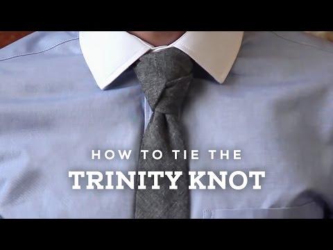 How to Tie a Perfect Trinity Necktie Knot