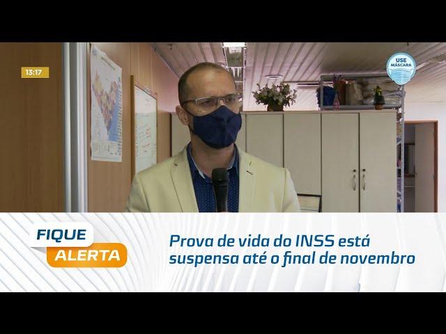 Prova de vida do INSS está suspensa até o final de novembro