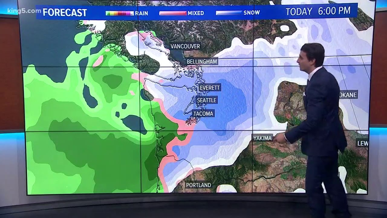 3 Pm Seattle Winter Weather Forecast Youtube