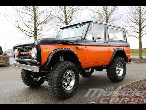 1974 Bronco 302 In Black Orange