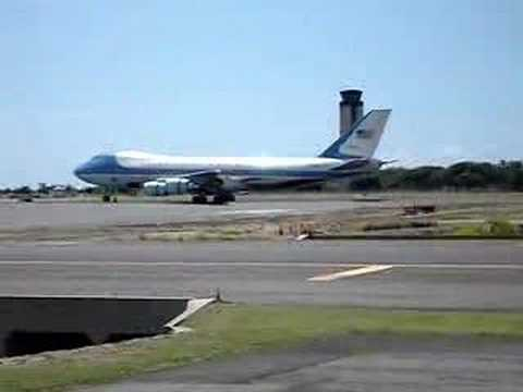 Air Force One lands at Honolulu International Airport
