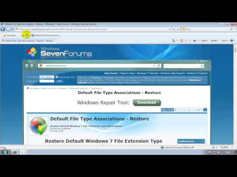 Fixing File Association Problems (exe files opening in