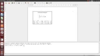 Digitando a resolução de uma integral no Libre Office