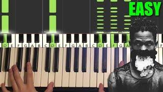 Travis Scott - Upper Echelon (Piano Tutorial Lesson)