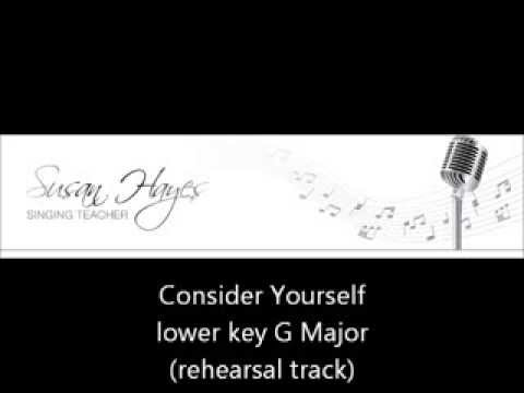 Consider Yourself - lower key (rehearsal track)
