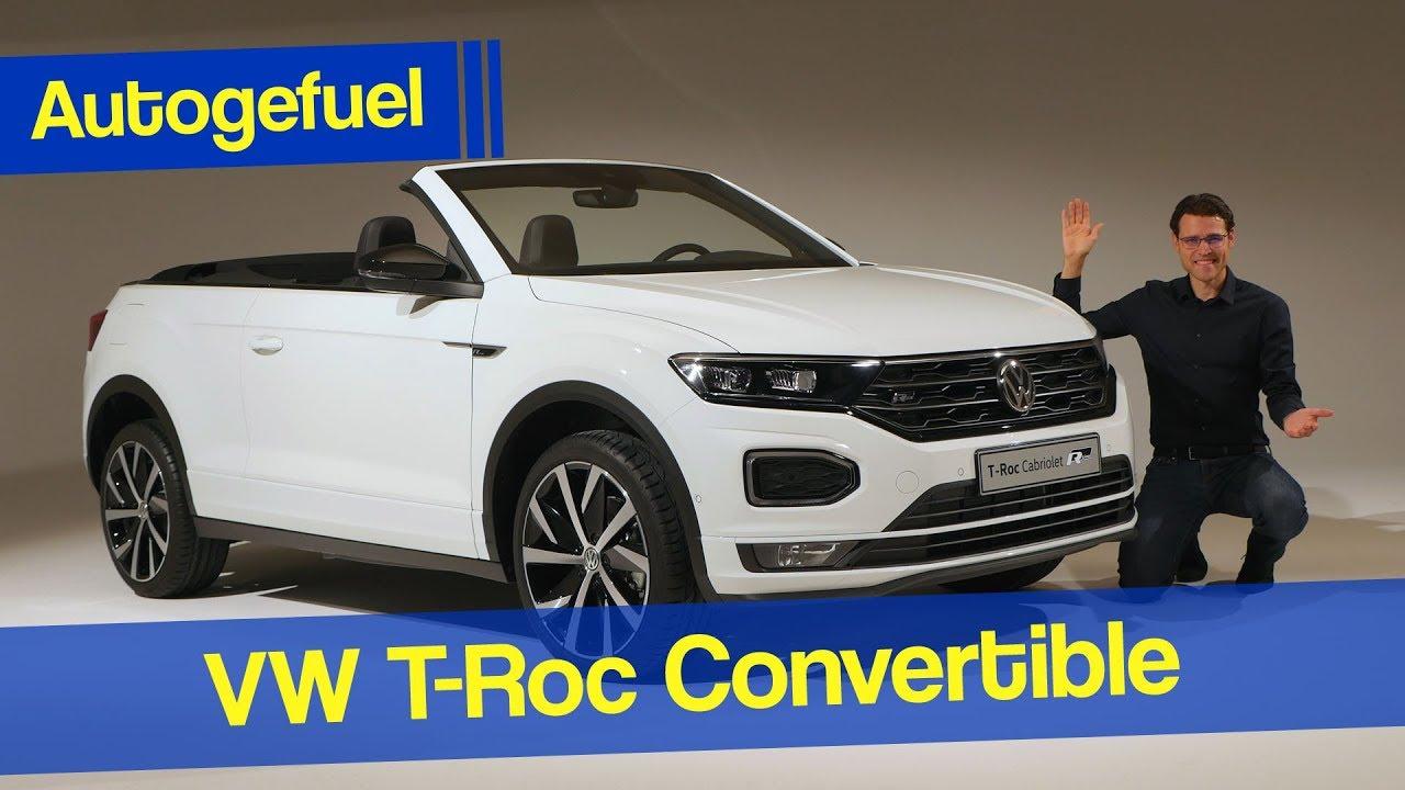 The New Suv Convertible Volkswagen T Roc Cabrio Premiere Review Autogefuel Youtube