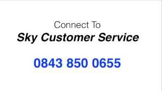 Sky Customer Service Telephone Number 0843 850 0655