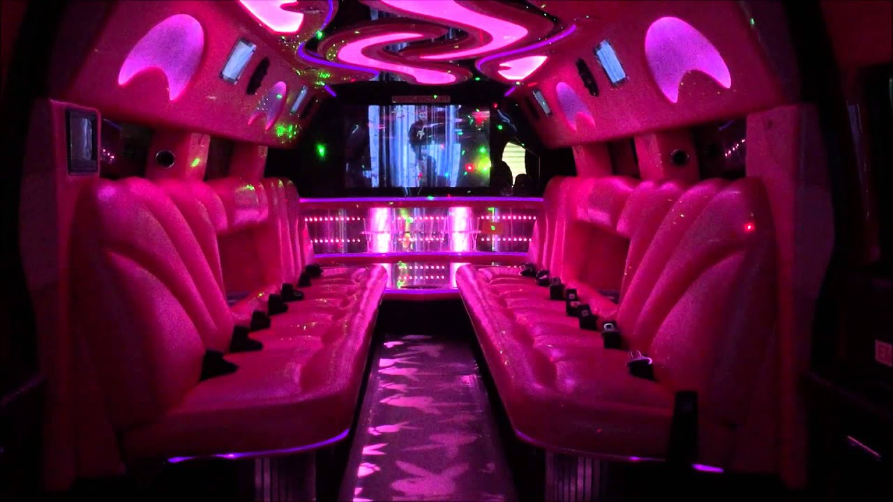 Pink Playboy 22 Seater Stretch Hummer