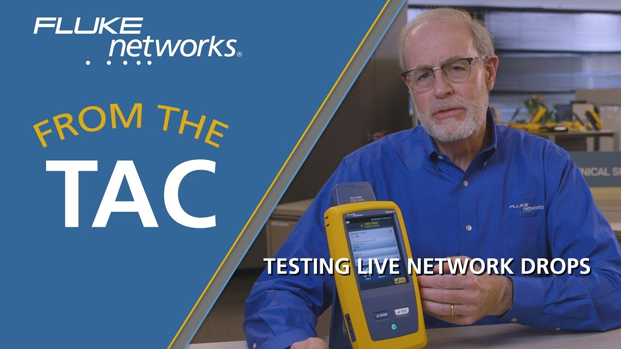 Testing Live Network Drops with the DSX CableAnalyzer by Fluke Networks
